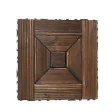 Bare Decor Floor Interlocking Flooring Tiles in Solid Teak Wood Oiled Finish c