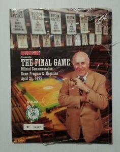 Boston Celtics - The Final Game at Boston Garden Official Program 4/21/95 Sealed