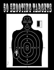 50 Shooting Targets 8.5 X 11 - Silhouette, Target or Bullseye hunting