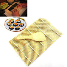 Home DIY Sushi Rolling Maker Tools Bamboo Material Roller Mat and A Rice Paddle