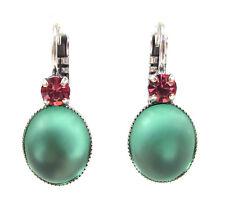 SoHo® Ohrringe Ohrhänger geschliffene Kristalle rose handgemachter Glas Cabochon