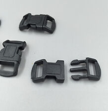 12pcs Curved Side Release Plastic Buckle for Paracord Bracelet Black 11mm