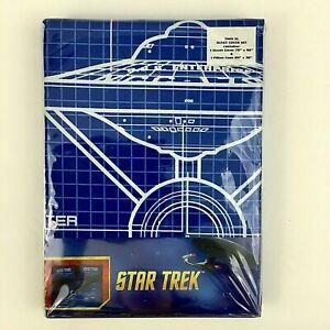 Star Trek TOS U.S.S. Enterprise Blueprints Duvet Cover w/ Pillowcase TWIN XL New