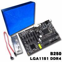 B250 Btc Mining Fentes Efficient Carte Mère 11 Pcie X1 + Pcie 16x 2 ddr4 Lga1151