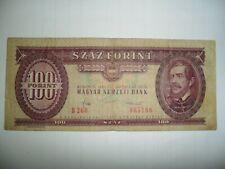 BANCONOTA 100 FORINT UNGHERIA 1984 SPL