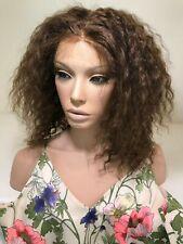 Short Curly Wig Lace Wig Human Hair Medium Brown