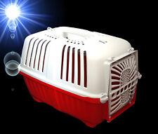rote ❤️ TRANSPORTBOX 48 cm ❤️ Hunde Katzen Nager Auto Zubehör Haustiere