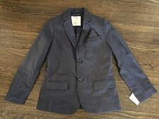 NEW W TAG ZARA BOYS COLLECTION SZ 9/10T GRAY BLUE'ISH WOOL BLEND BLAZER JACKET