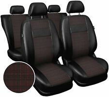 Seat covers fit Ford Focus Mk1 Mk2 Mk3 Mk4  polyester leatherette black / red