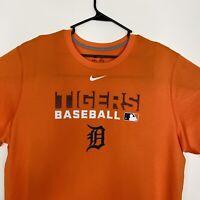 Nike Dri Fit Detroit Tigers T-Shirt Men's Size XL Orange MLB Baseball