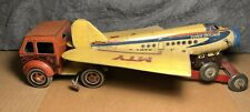 Vintage RARE Mettoy | Tin Airplane Transport Truck | Great Britain | early 1950s