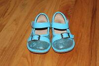 Girls Boutique Alligator Aqua Blue Sparkly Sequin Squeaker Squeaky Shoes size 8