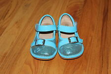 Girls Boutique Alligator Aqua Blue Sparkly Sequin Squeaker Squeaky Shoes size 8