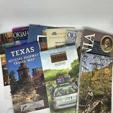 Lot of 11 From 1970's to 2015 State Road Maps