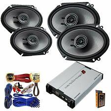 "4x Kenwood KFC-D681C 6x8"" 360 Watt Speaker + Cerwin-Vega 600W 4Ch Amp + Kit"