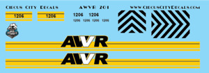 AWVR Unstoppable Movie Custom Decals Blue 1206 SD40-2 CP HO Scale