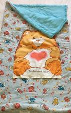 Care Bears Sleeping Bag Tenderheart Bear Snoozle Kids Pillow Vintage 1983 Love