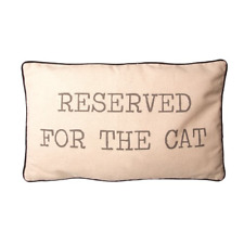 Sass & Belle Reserved for The Cat Printed Linen Piped Cushion Cover and Pad