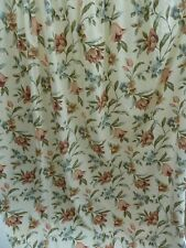 """Pair of Fully Lined Cream Floral Curtains - 88.5"""" x 88"""""""