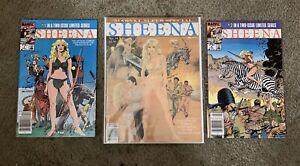 SHEENA #1-2 Limited Series & Marvel Super Special #34 SHEENA 1984 Marvel Comics