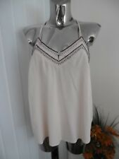 FOREVER 21 BLUSH STRAPPY SUMMER CAMI TOP SIZE  M LADIES BNWT EMBELLISHED