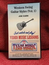 Western Swing Guitar Stiles Vhs Tape Video Music Lessons