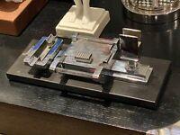 Amazing Art Deco 1930's Machine Age Cigarrette Box Smokers Ashtray Table Set