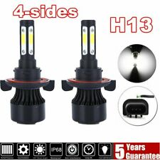 4-Sides H13 9008 LED Headlight Bulbs Hi/Lo Beam 6000K For Ford F-150 F-250 F-350