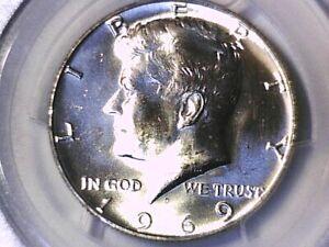 1969 D Kennedy Half Dollar PCGS MS 64 27531748