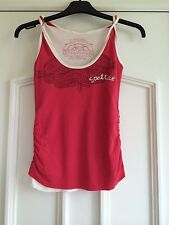 Soul Cal Summer GirlsRed Top Strappy Summer Top Size Ladies XS Valentines Gift