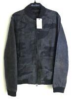 Robert Graham EVANSON Wool & Leather Bomber Jacket XL NEW NWT $698 Camouflage