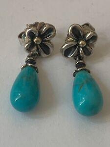 Ann King Turquoise Drop Earrings
