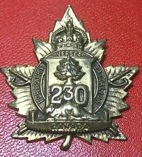 Ww1 Cef 230A (Forestry) Overseas Battalion Cap Badge Babin E-230A