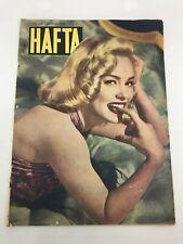 HAFTA #239 Turkish Magazine MAMI VAN DOREN COVER 1950s Ultra Rare ADS