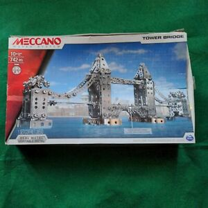 Meccano Maker System Tower Bridge 742 Metal Piece Great Condition & instructions