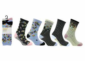 Ladies Women Casual Best Design Shoe Socks Design Lycra Cotton UK Wear 6-11