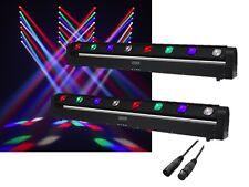 2 x Equinox Swing Batten 8 x 10W CREE LED RGBW Moving Bar Sweeper Beam Disco DJ