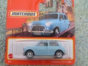 Matchbox 2021 #070/100 1964 AUSTIN MINI COOPER blue CaseB