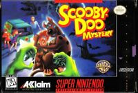 Scooby-Doo Mystery Super Nintendo Snes Cleaned & Tested Cart Only Authentic