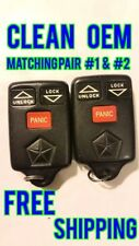 CLEAN 96-98 TOWN & COUNTRY MATCHING PAIR KEYLESS REMOTE FOB TRANSMITTER GQ43VT7T