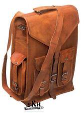 Women's Genuine Pure Leather Brown Backpack Satchel Rucksack Shoulder School Bag
