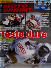Autosprint 40 2009 250 Simoncelli prende Bautista. Estoril: Lorenzo lunare SC.56
