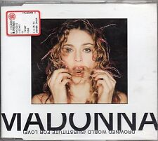 MADONNA CD SINGLE 3 tracce DROWNED WORLD SUBSTITUTE FOR LOVE made inGERMANY 1998