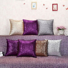 "16"" Glitter Sequins Throw Pillow Case Lounge Sofa Cafe Decor Cushion"