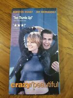 Crazy Beautiful VHS 2001 Drama Romance Kirsten Dunst Jay Hernandez Free Shipping