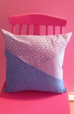 ** EXCLUSIVE NEW HANDMADE ** Turquoise  'CAMBRIDGE PATCHWORK' Cushion & Infill