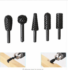 10Pcs HSS Power Tools Woodworking Rasp Chisel Shaped Rotating Embossed Grinding