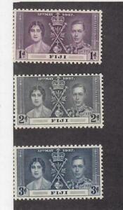 FIJI (SP34,35) # 114-116,676-679 VF-MNH  1992 CHRISTMAS /1937 CORONATION CV $12