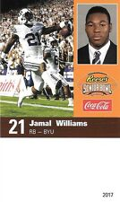 Jamaal Williams 2017 Senior Sr Bowl Card - BYU Brigham Young - NFL Packers