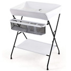 Portable Infant Changing Station Baby Diaper Table with Safety Belt